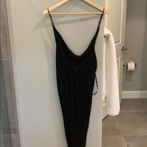Low back ruched cocktail dress
